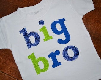 Big Brother Shirt / Big Bro Sibling Tshirt / READY TO SHIP / size 2T / New Baby Birth Announcement / Big Bro Tee