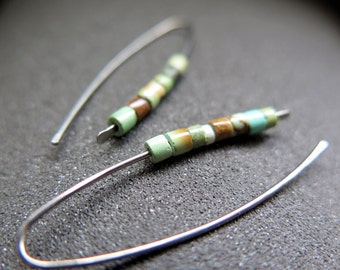 turquoise earrings. hypoallergenic jewelry in niobium.