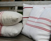 SEWING SERVICE: this listing is for ordering your pillows made from our grain sacks LAUNDERED