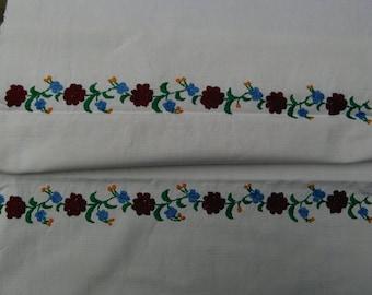 handloomed linen antique charming KITCHEN TOWEL, easter decoration, NAPKIN