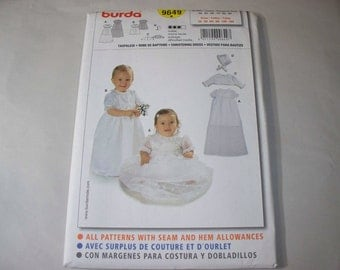 New Burda Baby Christening Gown Pattern, 9649 (Free US Shipping)