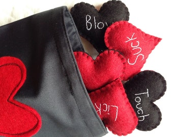 Adult Love Hearts - Adult Play Hearts - Wool Felt - Adult Toy - Love Dice