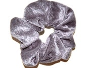 Velvet Scrunchie/ Grey Velvet Scrunchie/ blue Scrunchie /Handmade Scrunchie /Gift Under 10