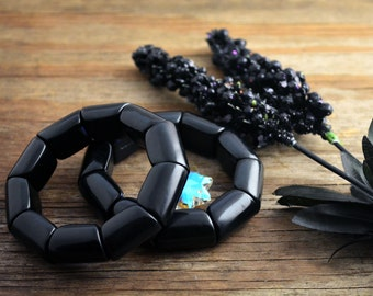 Black: Beautiful Tagua Bracelet, River Beads Collection / Eco-Friendly Jewelry, Tagua Nuts, Vegetable Ivory Jewelry, Handmade /Gifts for her