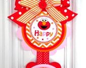 Elmo Door Sign, Elmo Vertical Door Sign, Girl Elmo Birthday Party