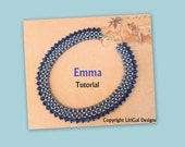 Emma Silky Beads and SuperDuo Beadwork Necklace PDF Tutorial