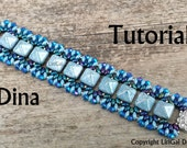 Dina SuperDuo & Pyramid beads Beadwork Bracelet PDF Tutorial