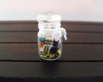 1.12th Scale Dolls House Miniature Food item, Jar of Liquorice Alsorts