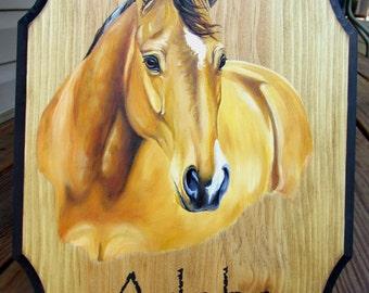 Custom Horse Stall Plaque Sign Marker Portrait Larger