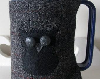 Harris Tweed French Press, Coffee Pot Cozy, Cosie, Scottie, Bird, Owl, Cat, Cafetiere