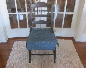Antique Turned and Fluted Side Chair with Slipcover