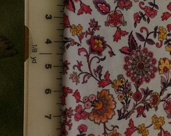 Floral Kalidescope look Spandex bty