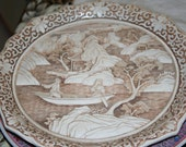 Cream Carved Plate