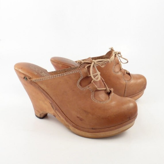 Vintage Wooden Clogs 14