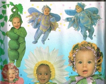 Infants Sweet Pea, Fairy, Daisy, Flowers Baby Sunflower Halloween Costume Sewing Pattern Simplicity 8273 Size 1 2 3 4