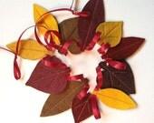 Fall Felt Leaf Garland - Mini (J)