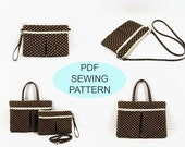 "PDF Sewing Tutorials - instant download - iPad purse , eReader pouch , 7"" Tablet case , Crossbody bag, Wristlet - Instant Download"