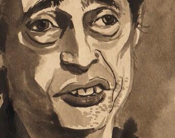I love Steve Buscemi - 8 x 10 archival print - ink portrait