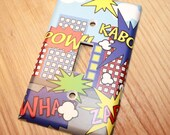 Super Hero Boys Kids Bedroom Baby Nursery Single Light Switch Cover
