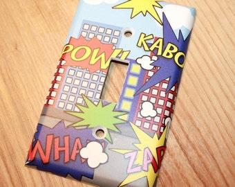 Super Hero Boys Kids Bedroom Baby Nursery Single Light Switch Cover LS0059