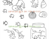 Under The Sea Clear Polymer Stamp Collection