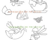 Tiny Tea Fairies Clear Polymer Stamp Collection
