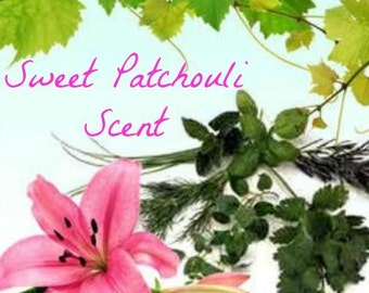 SWEET PATCHOULI Scented Soy Wax Melts -  Flameless Wickless Soy Candle Tarts - Hand Poured - Highly Scented - Handmade In USA