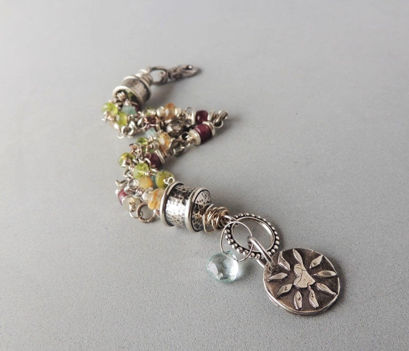 artisan jewelry 4 strand beaded bracelet by dianesaddiction