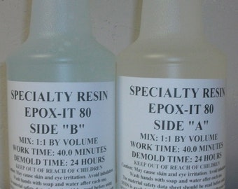 Clear Epoxy Resin for Bar Tops, Encapsulating, or Casting (64 ounces)