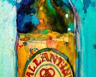 Ballantine Ale  Original Watercolor