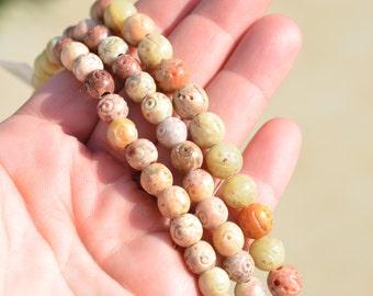 23  Round Soapstone 10mm Beads BD830