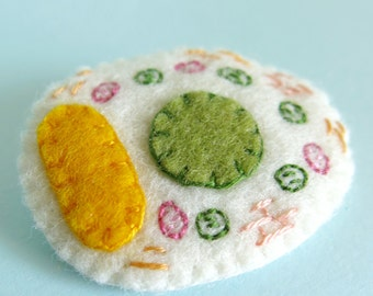 Plant Cell Cross Section Brooch Plant Biology