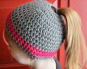 Ponytail Hat for All Ages- All Sizes Available- ships 3 days from purchase