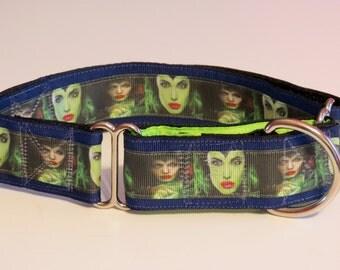 Maleficent Inspired Martingale Dog Collar (Lg)