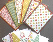 Blank Holiday Notecard Set - 6 Different Cards with Matching Embellished Envelopes - Mistletoe