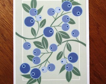Blueberry Note Card