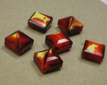 Faceted Square Glass