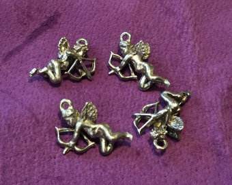 3D Cupid Pewter Charms