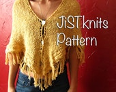 Triangle Shawl with a kni...
