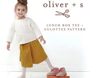 Oliver + S Lunch Box Tee & Culottes Size 5-12 Sewing Pattern