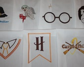 Harry Potter Sayings Machine Embroidered Quilt Blocks Set B