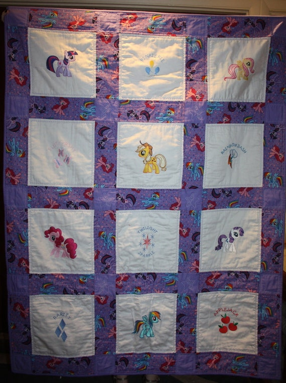 My Little Pony Machine Embroidered Lap Quilt Purple : pony quilt - Adamdwight.com