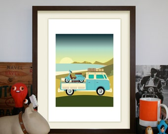 Campervan Limited Edition A3 Artprint