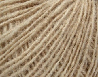 Oatmeal - Peruvian Alpaca/Merino Sock Knitting Yarn, 50 grams