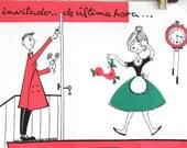 Vintage Mid Century Spanish Recipe Towel