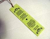 Plantable Seed Paper Bookmark in Hydrangea Green Embedded With Wildflower Seeds Personalized with Event Details