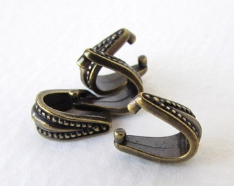 Pinch Bail TierraCast Antiqued Brass Ox Royal Pendant Finding bax0011 (4)