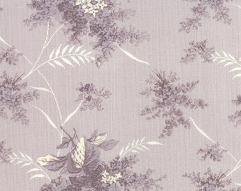 SALE Whitewashed by 3 sister Tonal Lilac floral in lavender 1 yard    YES!! Continuous fabric cuts and combined shipping