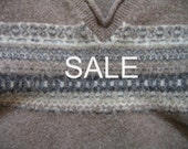 SALE - Supply - Felted Wool Sweater - Brown 1 - Recycled Fabric Material