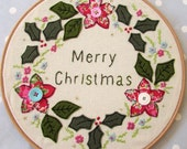 Merry Christmas Hoop Decoration Instant download pdf pattern